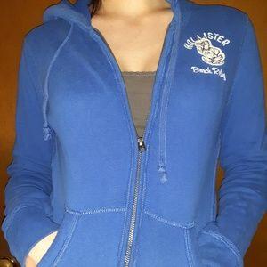 Hollister Blue zipfront hoodie